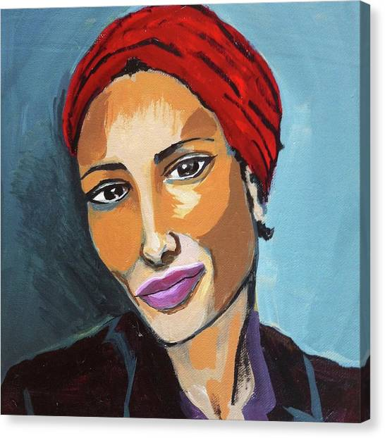 Red Turban Canvas Print