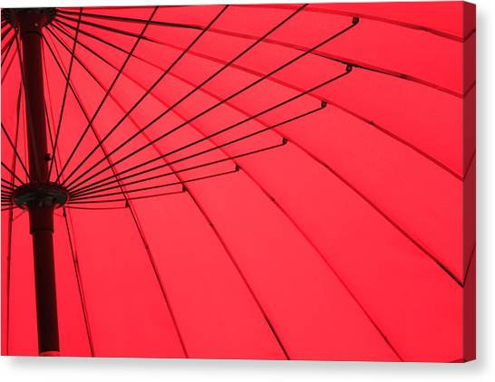 Red Umbrella Abstract Canvas Print by Tony Grider