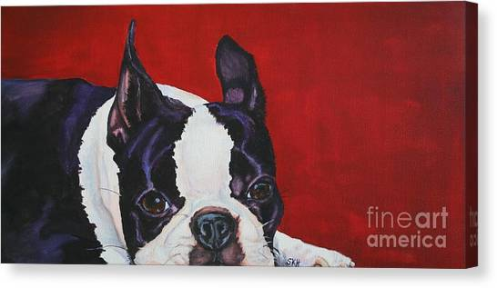 Red White And Black Canvas Print