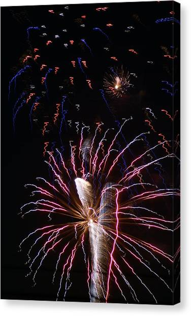 Red White And Blue Canvas Print by Heather Green