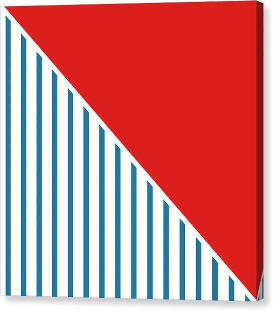Flags Canvas Print - Red White And Blue Triangles 2 by Linda Woods
