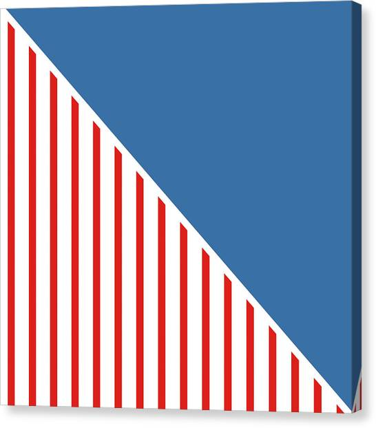 American Flag Canvas Print - Red White And Blue Triangles by Linda Woods