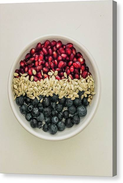 Red White Blue Power Breakfast Canvas Print