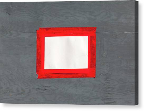 Canvas Print - Red White Grey by Richard Nixon