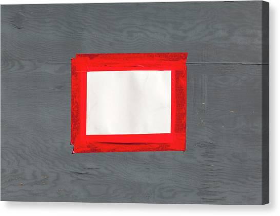 Canvas Print - Red White Grey by Richard Nixon