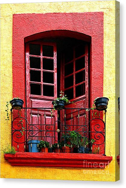 Red Window Canvas Print by Mexicolors Art Photography