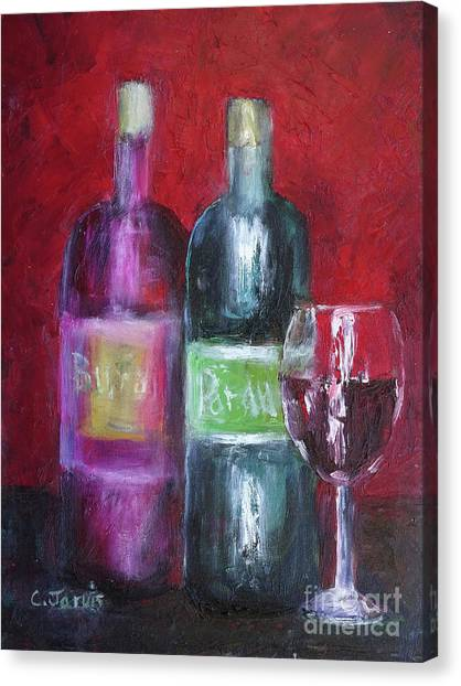 Red Wine Art Canvas Print