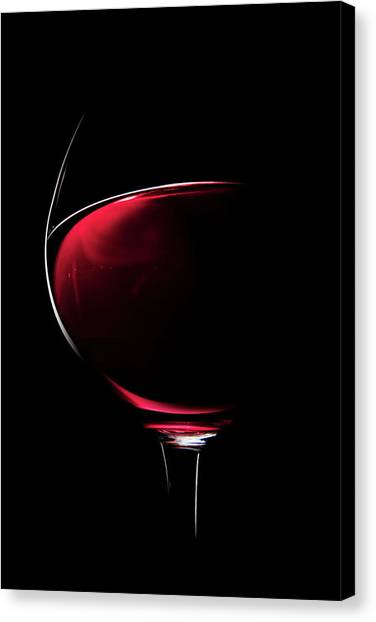 Glowing Canvas Print - Red Wine by Johan Swanepoel
