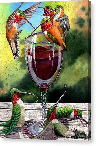 Red Winos Canvas Print