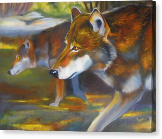 Red Wolves Canvas Print