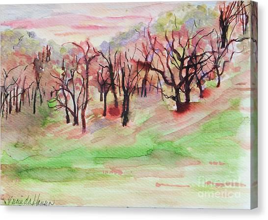 Red Woods Canvas Print by Lucinda  Hansen