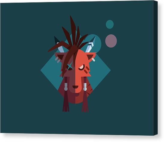 Final Fantasy Canvas Print - Red Xiii by Michael Myers