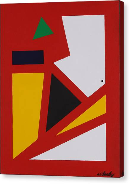 Red Yellow White Canvas Print