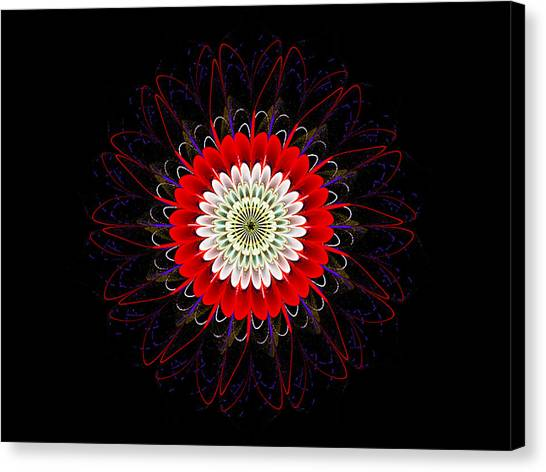 Red Zinnia Canvas Print