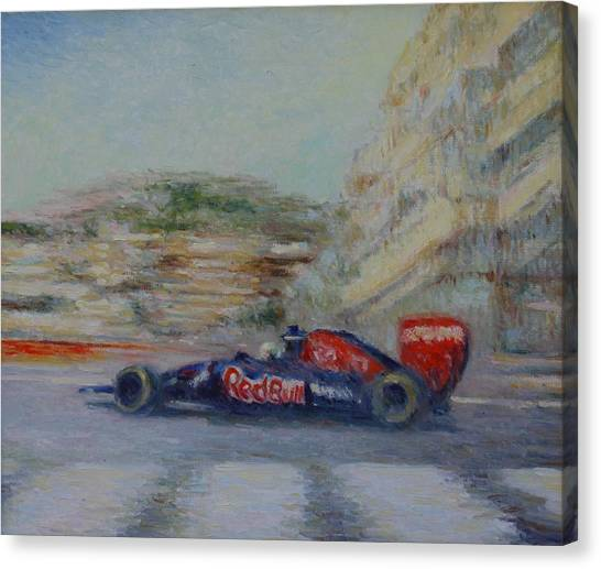 Redbull Racing Car Monaco  Canvas Print