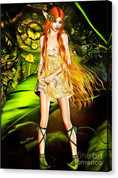 Redhead Forest Pixie Canvas Print