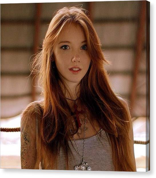 Redhead Ginger Tattoo Cute Hot Canvas Print By Sushiiallday Babes