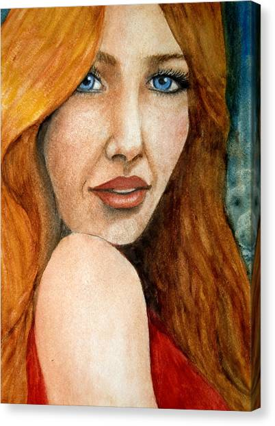 Redhead In October Canvas Print