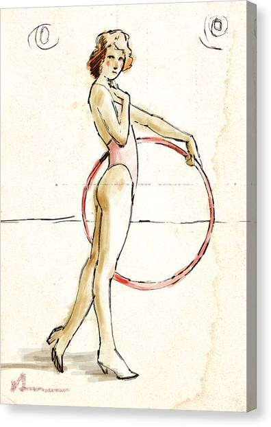 Redhead Canvas Print - Redhead With Hoop by H James Hoff