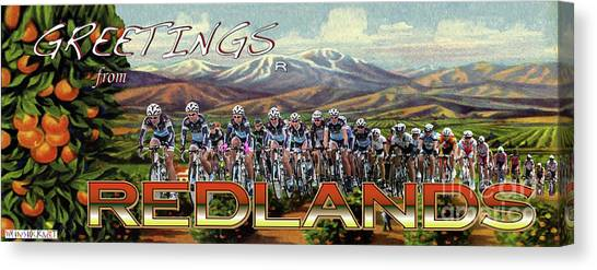 Redlands Greetings Canvas Print
