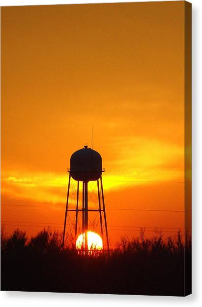 Redneck Water Heater For Whole Town Canvas Print
