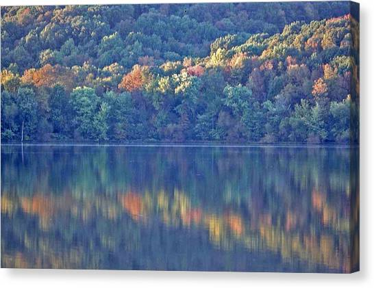 Rednor Lake Reflections - 1 Canvas Print by Randy Muir