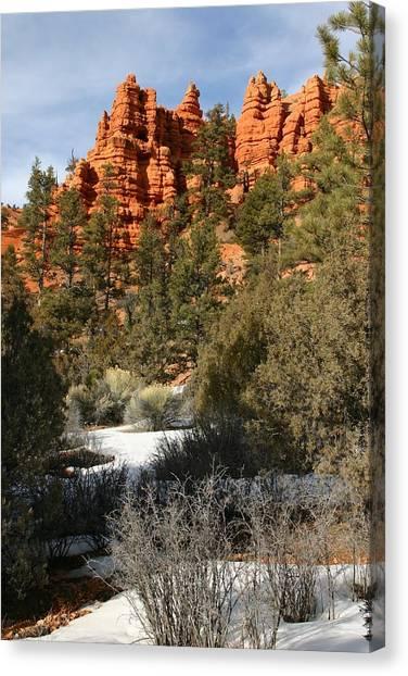 Redrock Winter Canvas Print