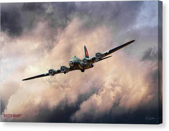United States Army Air Corps Canvas Print - Red's Baby by Peter Chilelli