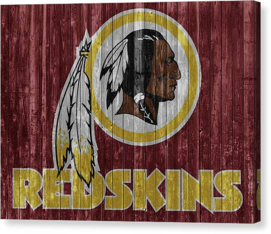 Joe Gibbs Canvas Print - Redskins Barn Door by Dan Sproul