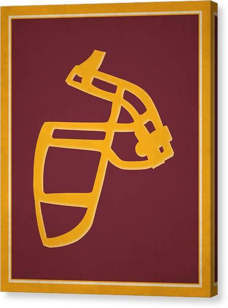 Washington Redskins Canvas Print - Redskins Face Mask by Joe Hamilton