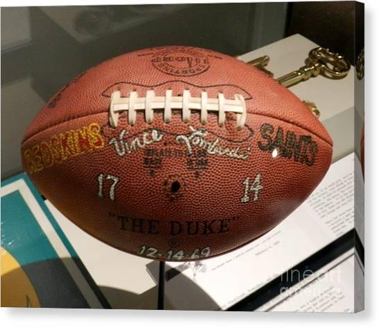 Reggie White Canvas Print - Redskins Vs. Saints Lombardi Football by Snapshot Studio