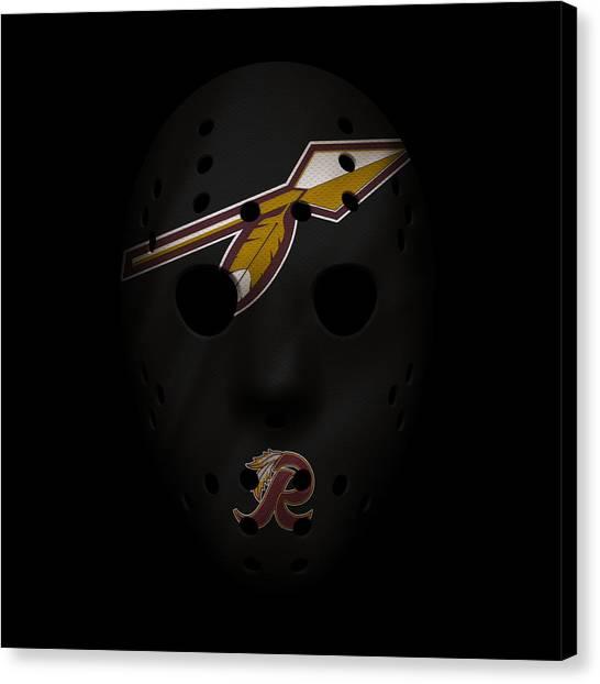 Washington Redskins Canvas Print - Redskins War Mask 2 by Joe Hamilton
