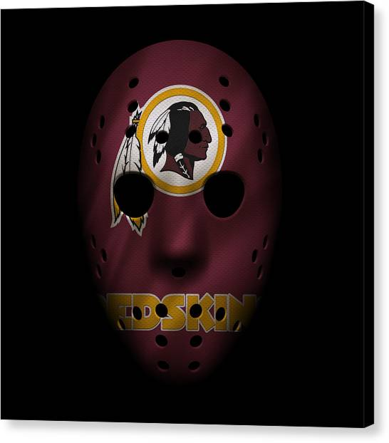 Washington Redskins Canvas Print - Redskins War Mask by Joe Hamilton