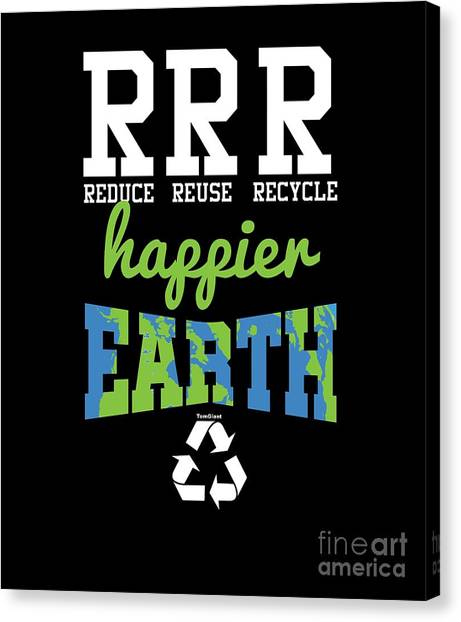 Canvas Print - Reduce Reuse Recycle by Thomas Larch