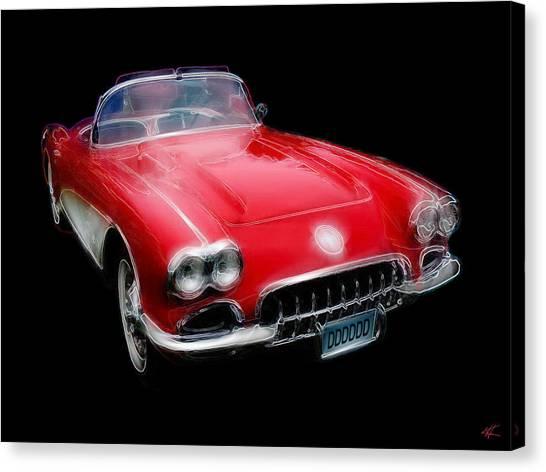 Redvette Canvas Print