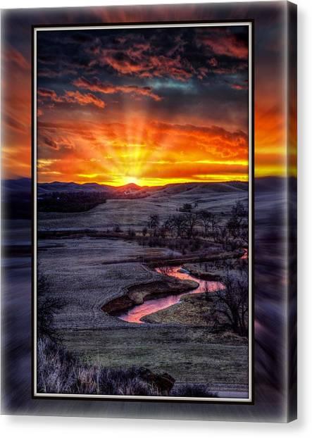 Redwater River Sunrise Canvas Print