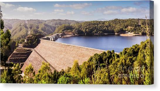 Construction Canvas Print - Reece Dam, Western Tasmania by Jorgo Photography - Wall Art Gallery
