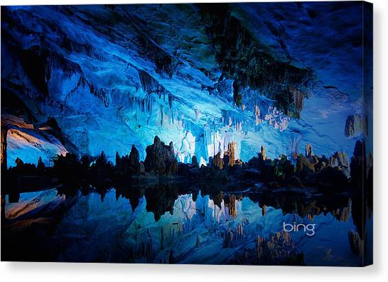 Ice Caves Canvas Print - Reed Flute Cave by Super Lovely