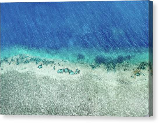 White Sand Canvas Print - Reef Barrier by Az Jackson
