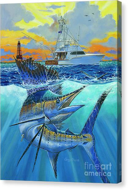 Fishing Boats Canvas Print - Reef Cup 2017 by Carey Chen