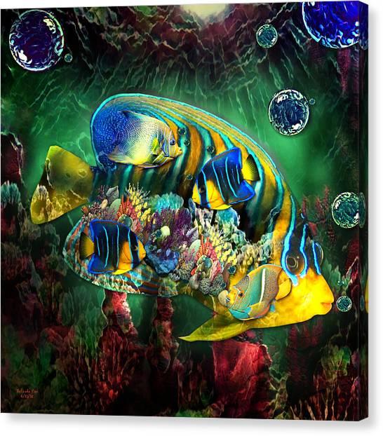 Reef Fish Fantasy Art Canvas Print