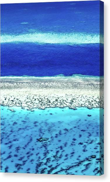 White Sand Canvas Print - Reefs Edge by Az Jackson