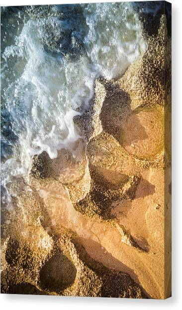 Canvas Print featuring the photograph Reefy Textures by T Brian Jones