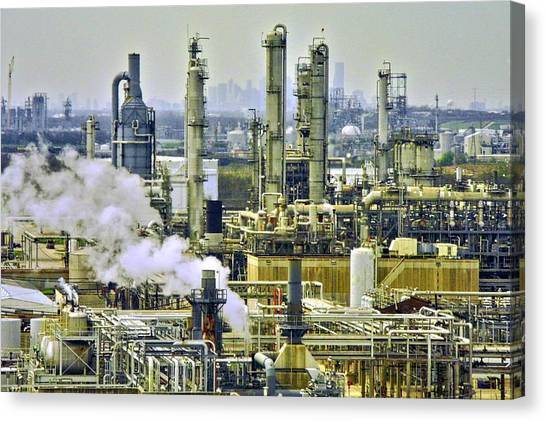 Refineries In Houston Texas Canvas Print