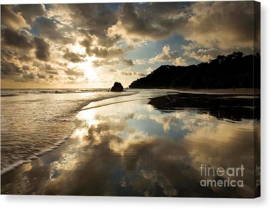 Costa Rican Canvas Print - Reflected Costa Rica Sunset by Matt Tilghman