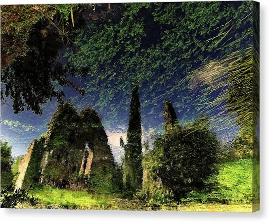 Ruins Canvas Print - Reflected Ruins by Fulvio Pellegrini