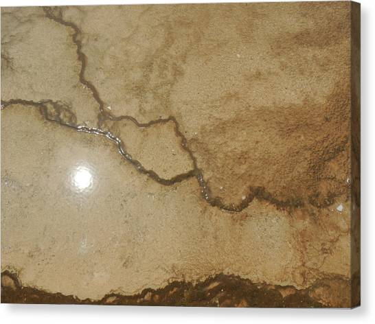 Reflected Sun In Hot Spring Canvas Print