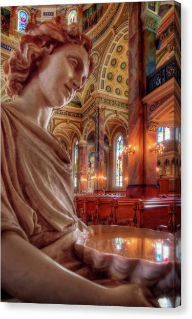 Reflecting On That Which Is Holy Canvas Print by Peter Herman