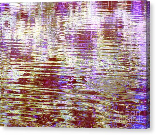 Reflecting Purple Water Canvas Print