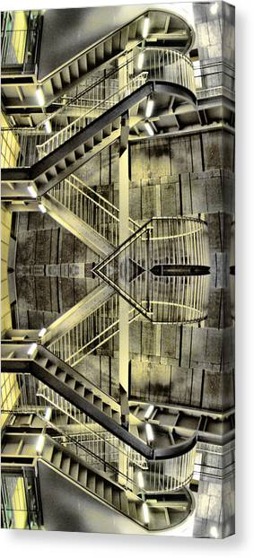 Reflecting Stairs Canvas Print